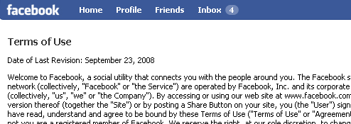 Facebook Reverts Back To Old Terms Of Service
