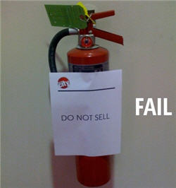 Circuit City Doesn't Sell Fire Extinguishers