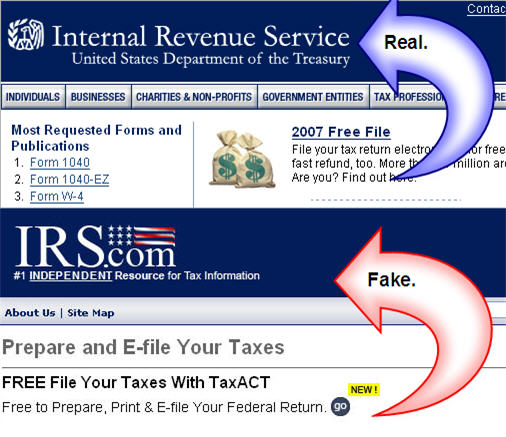 Tax Tip: Watch Out For Fake IRS Sites