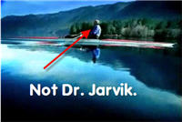 Say Goodbye To Dr. Jarvik As He and His Stunt Double Row Into The Sunset