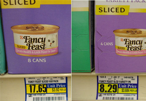Fancy Feast Pricing Scheme Rewards Those Who Pay Attention