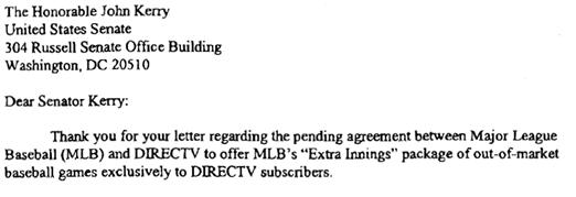 "FCC Investigating Proposed DirecTV ""Extra Innings"" Monopoly"