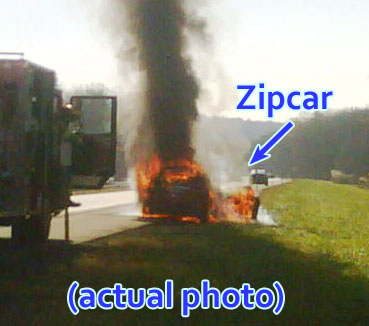 Too Bad: Your Incinerated Belongings Are Not Zipcar's Problem (Updated!)