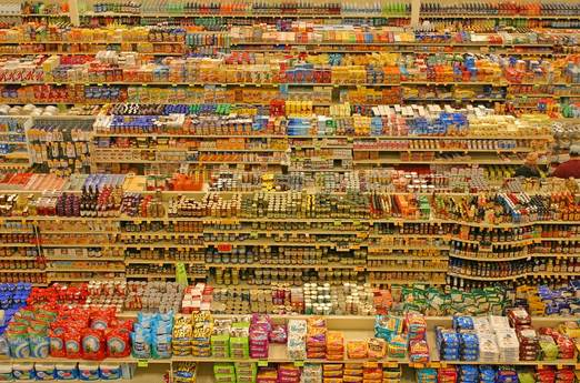 Panopticon Of Fred Meyer Shelves