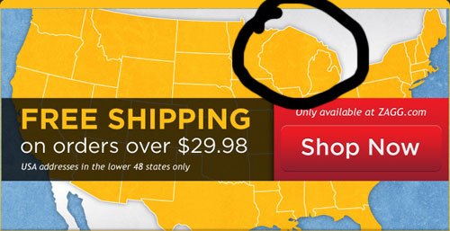 Zagg Offers Free Shipping To Continental U.S., Mer-people Of Lake Michigan