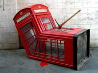 Banksy Pranks British Telecom with Bloody Telephone Booth