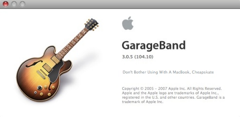 Apple: MacBooks Can't Handle GarageBand