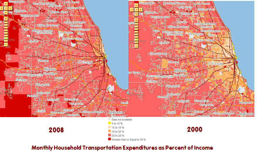 See How Soaring Gas Prices Have Impacted Your Community With This Transportation Cost Heat Map