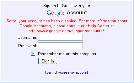 Gmail Disables User Accounts Without Reason Or Warning