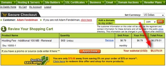 Perhaps You Don't Owe GoDaddy $6,579