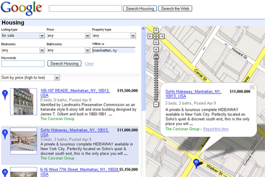 Google Housing Lets You Search Real Estate And Rental Listings