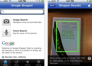 Google Shopper App Recognizes Products By Their Cover