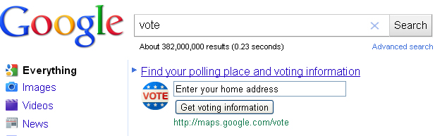 Easily Find Your Polling Location With Google