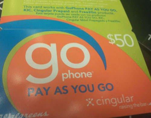 If You Need A Cingular Wireless Prepaid Card, Check Out ThisWalgreens