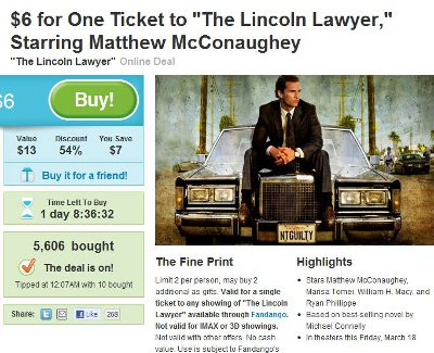 Groupon Gets Into The Movie Ticket Business