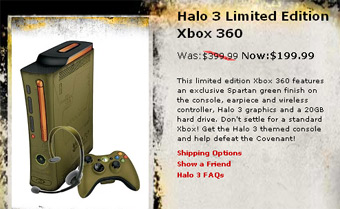 Halo 3 Limited Edition Xbox 360 For $199.99