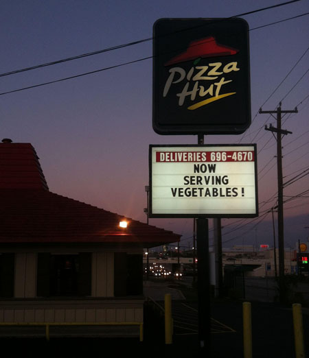 Political Commentary On A Pizza Hut Sign?