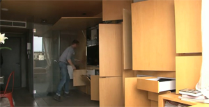 Man Lives In Awesome 258 Sq Ft Transforming Apartment