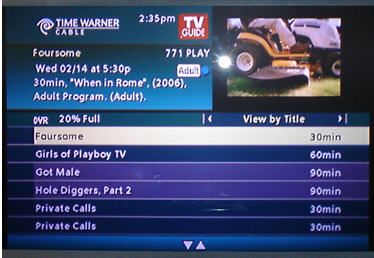 Porn channels on cable