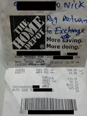 Home Depot Forgot They Promised To Hang Onto My Rug Until I Decided If I'd Exchange It Or Not, Refuses Refund