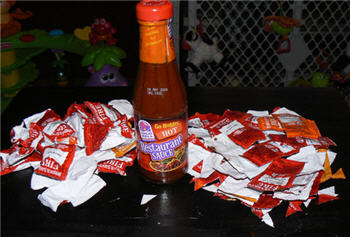 It Takes 35 Taco Bell Hot Sauce Packets To Refill Your Hot Sauce Bottle