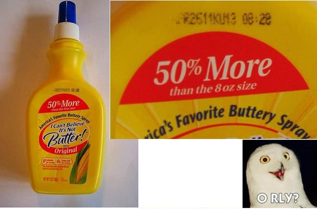 This Bottle Of I Can't Believe It's Not Butter Is Incredibly Accurate