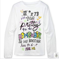 "JCPenney Removes ""Too Pretty To Do Homework"" Sweatshirt"