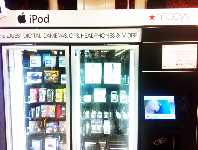 The iPad Vending Machine At Macy's