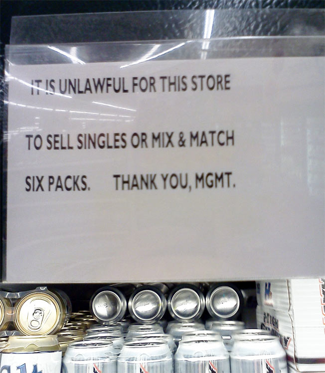 "These Kroger ""Build Your Own Sixpack"" Signs Are In Conflict"