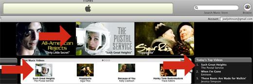 The Postal Service #1 on iTunes Music Store