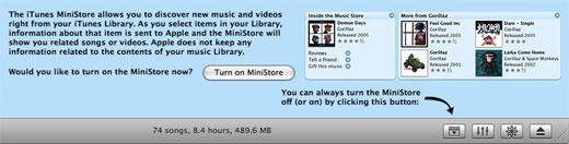 Apple Adds iTunes Ministore Opt-In