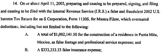 """Girls Gone Wild"" Tax Indictment Teaches Us Not To Deduct Funny-Looking Numbers"