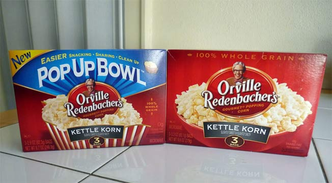 Orville Redenbacher Uses New Fancy Bowl To Disguise Shrink Ray Effects