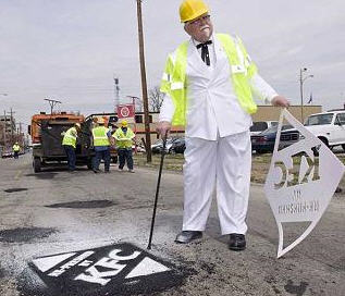 KFC Wants To Fix Chicago's Pothole Problem