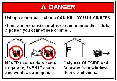 "Using a Portable Generator Indoors Can ""Kill You in Minutes"""