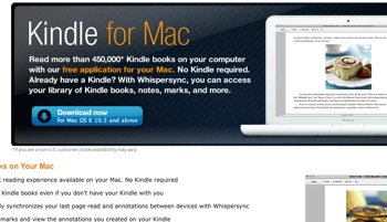 Amazon Releases Kindle For Mac