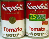 "Lawsuit: Campbell's ""Regular"" And ""25% Less Sodium"" Tomato Soup Both Contain 480mg Of Sodium"