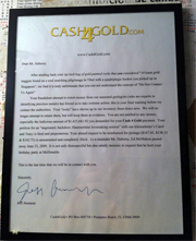 Hilarious Cash4Gold Letter Is Fake