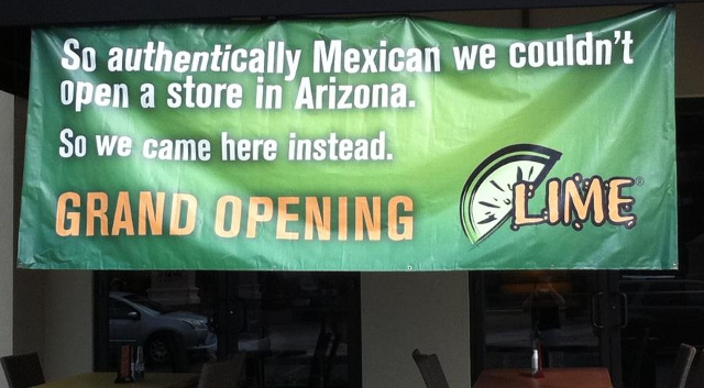 Lime Mexican Grill Turns Arizona Immigration Controversy Into Marketing