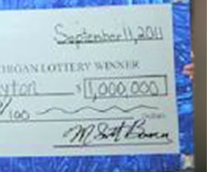 No More Food Stamps For $1 Million Michigan Lottery Winner