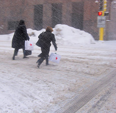 A Little Pesky Snow Can't Deter Shoppers Set On Spending