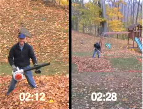 Consumer Reports: Man Vs. Leaf Blower