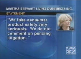 Martha Stewart Takes Lead Poisoning Seriously