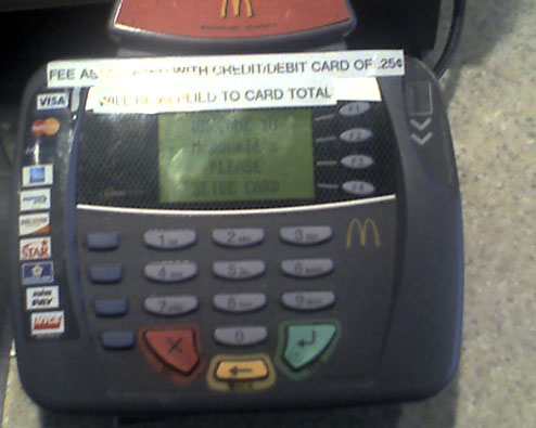 This McDonald's Charges 25¢ To Use A Credit Or Debit Card, Violates Merchant Agreement