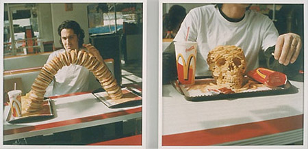 Artist Sculpts Skull Out Of McDonald's French Fries