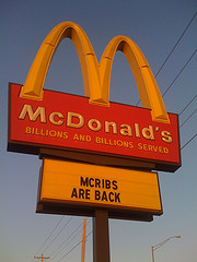 McRib Sandwich Returning From McExile On Nov. 2