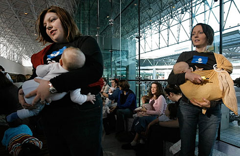 Breastfeeding Protesters Target Airlines