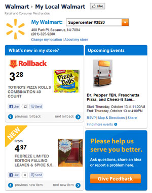 Walmart Launching 3500 Store-Specific Facebook Pages To Promo Local Deals