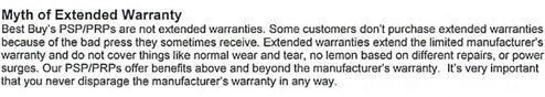 "LEAKS: Best Buy Internal Doc Says Their ""Extended Warranties"" Are A ""Myth"""