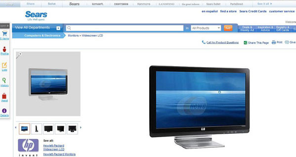 Maybe You Won't Notice The Newegg Watermark On This Sears Product Page